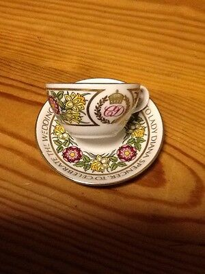 Spode minature cups & saucers,Charles & Diana ,Prince William.