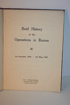 Brief History of the Operations in Burma - TAC Headquarters South East Asia