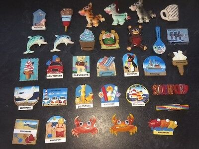 108 x Selected 3D Polyresin Southport Souvenir Fridge Magnets  NEW Free UK P&P