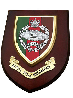 Royal Tank Regiment RTR Military Wall Plaque Army Mess Shield