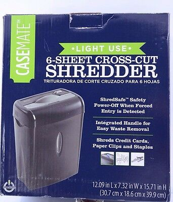 Casemate 6-Sheet Crosscut Electric Shredder with Easy Lift Handle  A0024S