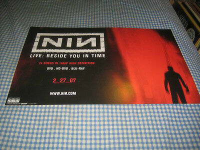 NINE INCH NAILS-(live beside you in time)-1 POSTER-11X17-NMINT-RARE