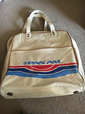Pan Am Original Canvas Flight Bag - Retro And Genuine, Used