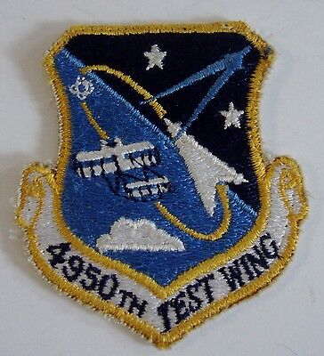 US Air Force USAF 4950th TEST WING Embroidered Patch