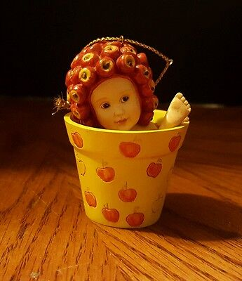ANNE GEDDES FLOWER POT Apples BABY CHILDREN ARE THE SWEETEST GIFT #611808