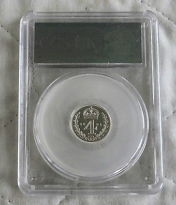 2001 Maundy Silver Proof Four Pence Slabbed Cgs 99