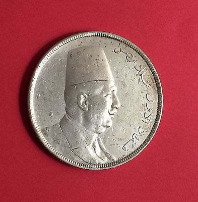 Egypt-Silver coin 20 Piastres of Kings Fuad 1923.....rare