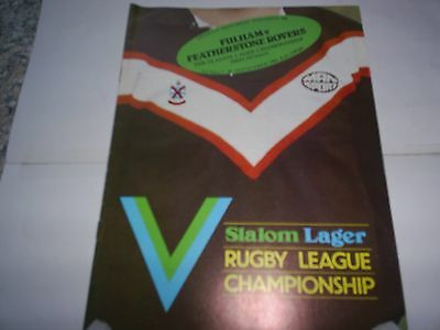 Fulham V Featherstone Rovers 1981-82