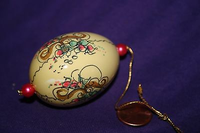 Vintage Hand Painted Empty Egg Shell Ornament