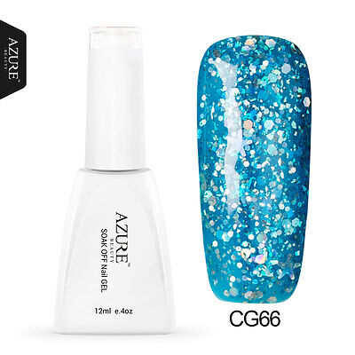 Azure Beauty New Glitter UV/Led Color Gel Nail Polish Free Post 12ml