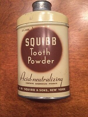 Squibb Tooth Powder- Acid Neutralizing Made In New York,USA