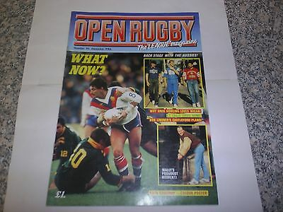 1986 Open Rugby Magazine