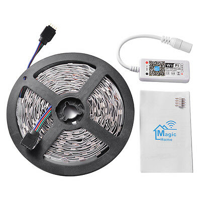 5M RGB 5050 LED Wireless Strip Light + Wifi Controller APP for iOS Android LD927