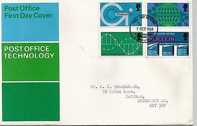 Queen Elizabeth Ii 1969 Technology  Typed First Day Cover Ref 290