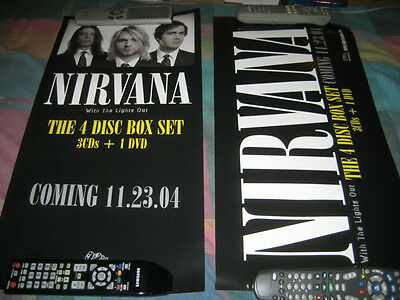 NIRVANA-(with the lights out)-1 POSTER-2 SIDED-12X24-MINT-RARE