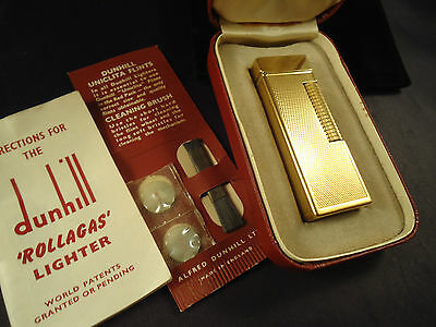Dunhill Rollagas Lighter - Gold Plated - 1959 - Cased - Feuerzeug - Briquet