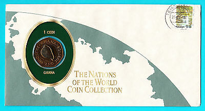 Ghana ** Numisbrief The Nation Of The World Coin  Collection Mit 1 Cedi