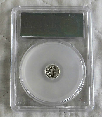 2004 Maundy Silver Proof One Pence Slabbed Cgs 98