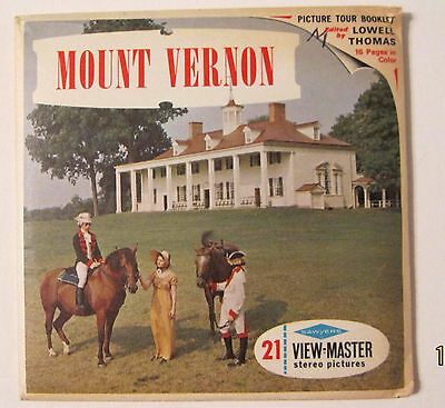 Viewmaster View Master Sawyers A-812 Mount Vernon Complete Pack