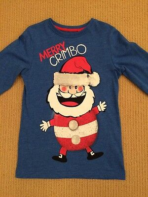 Boys Next Christmas Top Long Sleeve Age 6 Years VGC