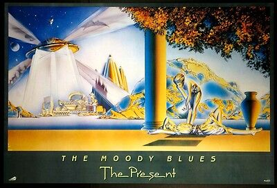 Moody Blues The Present Maxfield Parrish 1983 Promo Poster