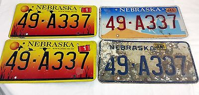 Vtg Lot of 4 Nebraska Auto License Plates Tags Sandhill Cranes Scotts Bluff 2002