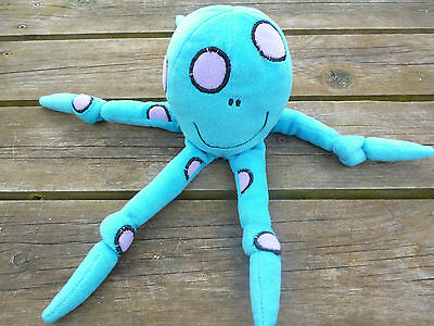Bang on the Door Blue Octopus Soft Toy