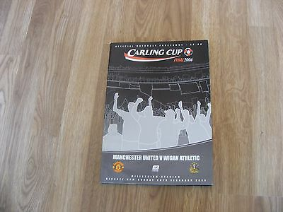 2006 Carling Cup Final Manchester United V Wigan Athletic