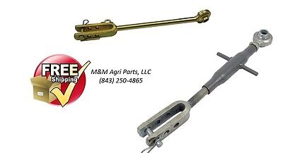 Compact Tractor 3 Point Hitch Adjustable Leveling Arm & Side Link Rod Cat 1
