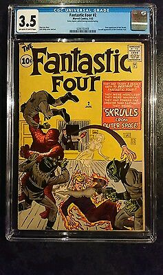 Fantastic Four #2 (Marvel, 1962) CGC VG- 3.5 Off-white to white pages....