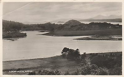 Postcard LOCH LAICH , APPIN Real photo