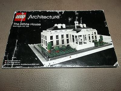 LEGO 21006 BOOK / MANUAL ONLY  Architecture The White House --FREE SHIPPING