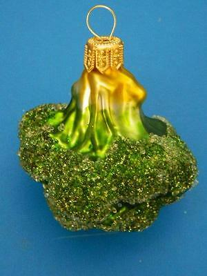 Broccoli Eurpean Blown Glass Christmas Tree Ornament Gift Farm Vegetable