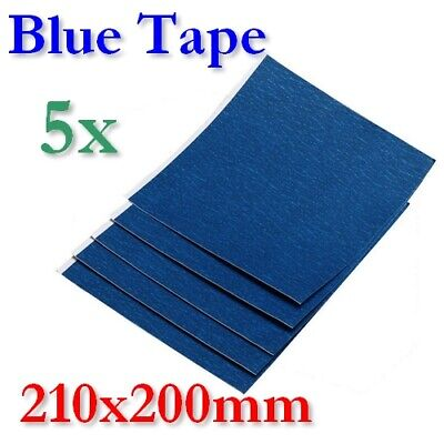 5x L Blue Tape 3M Makerbot RepRap E3D Dremel CTC Wanhao Flashforge Ultimaker 2