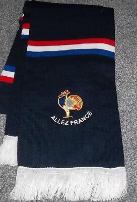 France Embroidered Bar Scarf