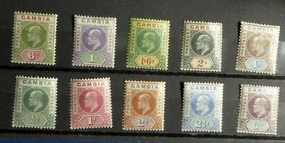 Stamps: Gambia: SG# 45-54 s.s.  MH  (D493)