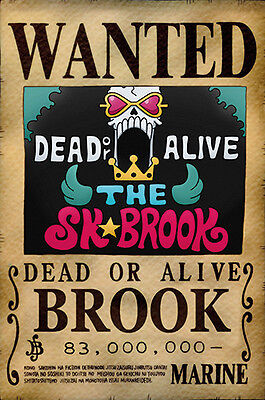 One Piece WANTED Poster (26 x 40 cm) - BROOK – Last Bounty!