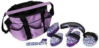 6 Piece GEOMETRICAL Horse Grooming Kit w/ Nylon Carrying Bag! HORSE TACK!