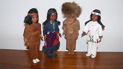Vintage American Indian dolls lot of 4