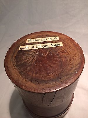 Antique Hand Carved (Hand Turned) Wooden Apothecary's Mortar and Pestle