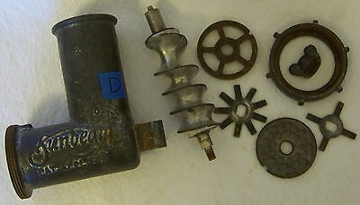 Sunbeam Mixmaster Grinder Attachment Model 5 Plates Knives Meat Food Appliance