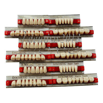 3 Set of 84*1 Acrylic Resin Denture Teeth Color A3 Upper Lower Shade Dental Sale