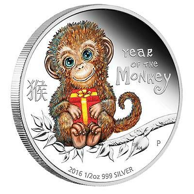 2016 Baby Monkey 1/2oz Silver Proof Coin - In Stock