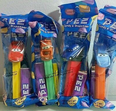 Cars Pez Dispensers Set of 4