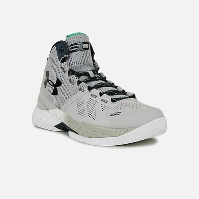 NEW Youth Under Armour Steph Curry 2 Storm Aluminum White Grey 1270817-052 GS