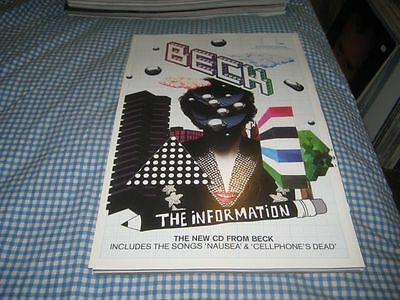 BECK-(the information)-1 POSTER-11X17-NMINT-RARE
