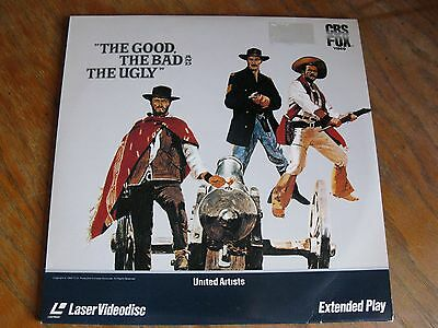 The Good The Bad The Ugly Laserdisc Tested Clint Eastwood Western Ntsc Clv Vg+