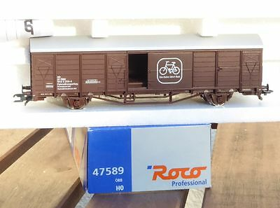 Roco 47589 covered goods wagon Bicycle transport ÖBB Ep. 4/5 H0,Innsbruck