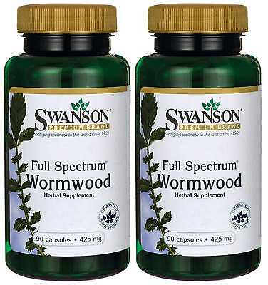 2X WORMWOOD STRONG 425 MG x 90 ( 180 ) CAPSULES - 24 HR DISPATCH