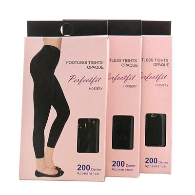 Quality 200 Denier Matte Opaque Footless Tights ( 2 PAIRS!!)  Women's Pantyhose